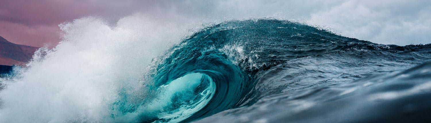 Blue ocean wave up close - nature therapy