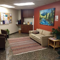 Relax and help yourself to some water in counseling and massage waiting room.